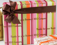 Multi Color Stripes Gift Wrap