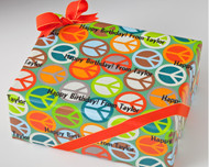 Peace Sign Gift Wrap