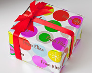 Shimmer Dots Gift Wrap