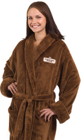 Long Micro Fleece Robe with Collar