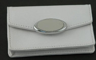 White Card Case with Engraving Plate