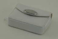 White Zippered Card Case