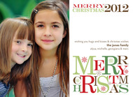 Merry Christmas 2012 Horizontal Photo Card