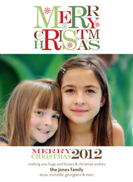 Merry Christmas 2012 Vertical Photo Card
