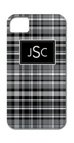 Hard Case Phone Cover - Black Plaid