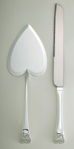 Heart Cake Knife and Server Set
