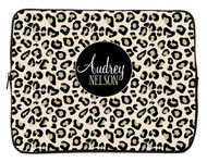 Black Leopard iPad and Laptop Sleeves