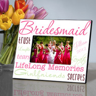 Wonderful Watermelon Personalized Bridesmaids Frames