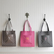 Personalized Quilted Shopping Tote