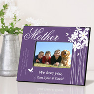 Personalized Blooming Flowers Mothers Day Picture Frame