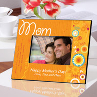 Personalized Mom Retro Flower Picture Frame