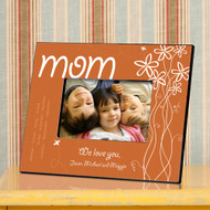 Personalized Whimsical Flowers Mom Picture Frame