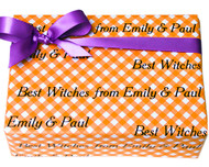 Orange Gingham Gift Wrap