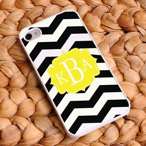 Chevron iPhone Case - Black and White