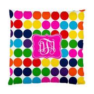 Crazy Dots Monogrammed Custom Designer Pillows