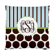Earth Chocolate Pop Monogrammed Custom Designer Pillows