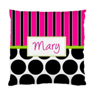 Earth Pop Pink Custom Designer Pillows