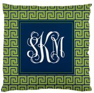Greek Key Monogrammed Custom Designer Pillows