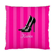 Hot Pink Stilettos Custom Designer Pillows