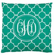 Jewel Clover Monogrammed Customer Designer Pillows