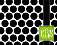 Black and White Polka Dots with Banner Custom Designer Cutting Boards