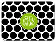 Black and White Polka Dot Custom Designer Cutting Boards