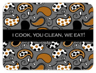 I Cook, Your Clean, We Eat! Custom Designer Cutting Boards