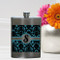 Girls Party Flasks with Initials - Damask Flask