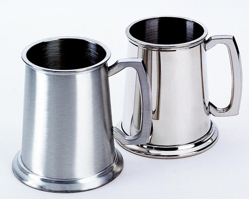 "Personalized 4.5"" 20 oz Stainless Steel Tankard - Matte and Polished Finish"
