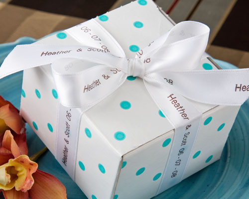 "7/8"" Personalized Printed Wedding Ribbon"