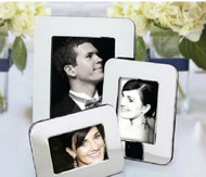 Personalized Nickel Plated Radius Picture Frame