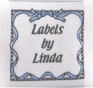 Ribbon & Bows (Blue) Fabric Clothing Labels