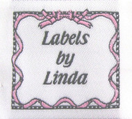 Ribbon & Bows (Pink) Fabric Clothing Labels