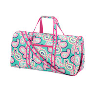 Mint Paisley Duffel Bag