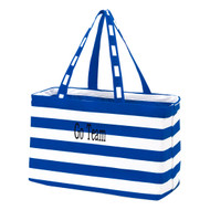 Royal Blue Striped Ultimate Tote - Monogram Shown: Black Thread/Classic Font