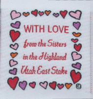 Happy Hearts Square Fabric Clothing Labels