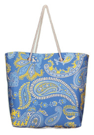 The Norma Jean Blue Paisley Cabana Tote