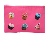 The Ava Pink Cupcake Cosmetic Case in Velour