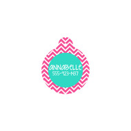 Personalized Hot Pink Chevron Circle Pet Tag