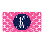 Personalized Hot Pink Anchor License Plate