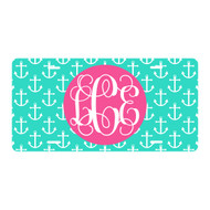 Personalized Mint Anchor License Plate