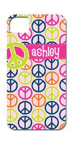 Peace Sign Name Hard Case Phone Cover
