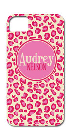 Hard Case Phone Cover - Pink Leopard