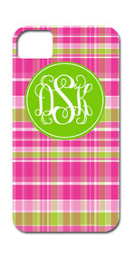 Hard Case Phone Cover - Pink and Green Plaid