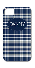 Hard Case Phone Cover - Navy Plaid