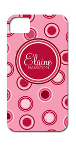 Hard Case Phone Cover - Breast Cancer Pink Polka Dots and Circles