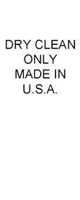 Dry Clean Only, Made in USA Care Labels