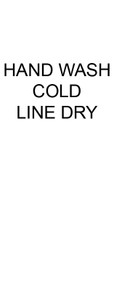 Hand Wash Cold Line Dry Care Labels