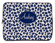 Navy Leopard iPad and Laptop Sleeves