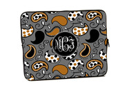 Brown and Grey Paisley iPad and Laptop Cases